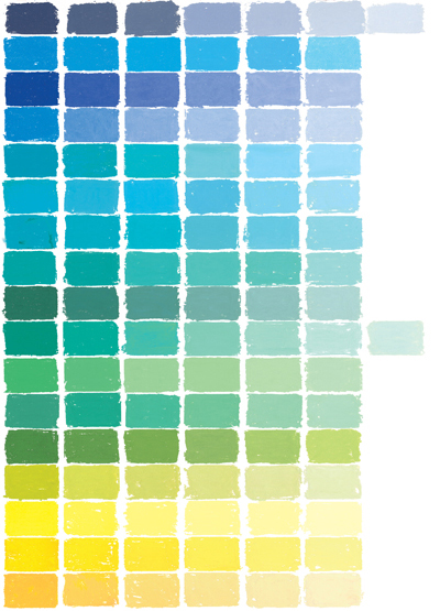 soft pastel color chart