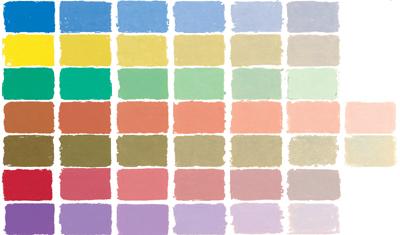 soft pastel color chart